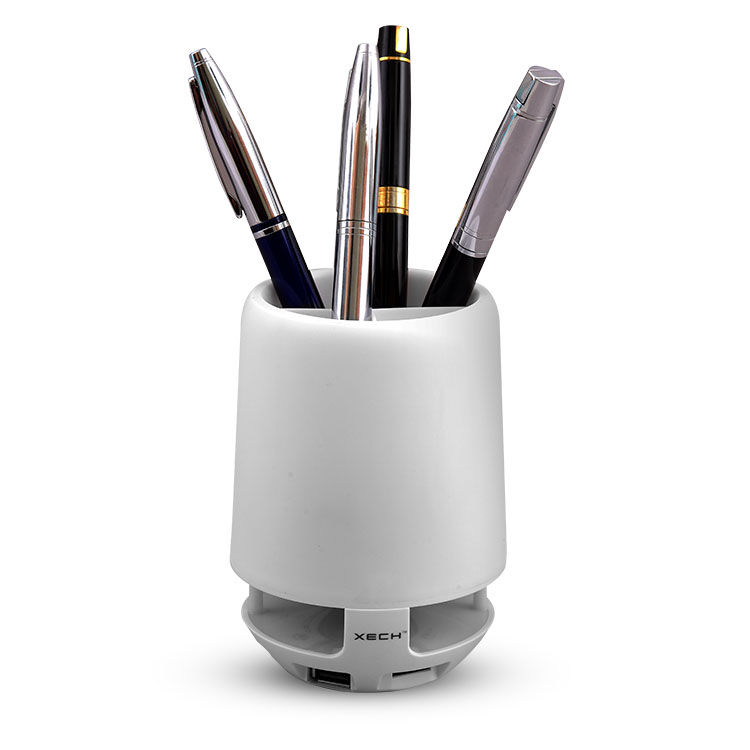 Xech Pen Stand Bluetooth Speaker with Changing Light